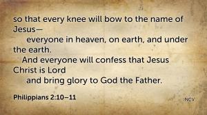 Philippians 2.10–11